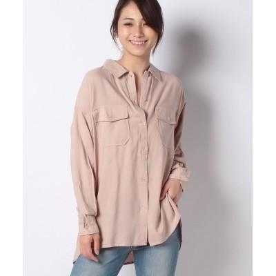 【コエ】 カルゼワークシャツ レディース ピンク ベージュ F koe