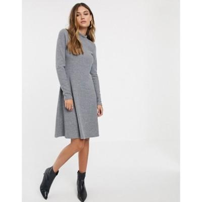 ワイエーエス レディース ワンピース トップス Y.A.S rib knitted mini dress
