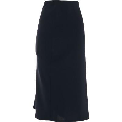 IRMA BIGNAMI 7分丈スカート ブラック 48 ポリエステル 100% 7分丈スカート