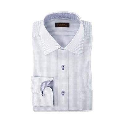 ヤマキ カザックワイシャツ セミワイドカラー メンズ|GKW202 757-M82 GKW202 757-青-ワイド 日本 M(39-82)