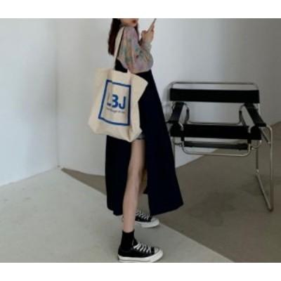 【取り寄せ】レディース サロペットスカート ワンピース ノースリーブ ロング丈 無地 ゆったり スリット ナチュラル シンプル フェミニン