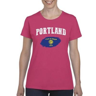 レディース 衣類 トップス Womens Portland Short Sleeve T-Shirt グラフィックティー