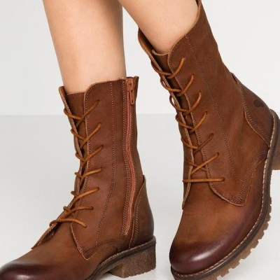 フェルミニ レディース 靴 シューズ CASTER - Lace-up ankle boots - morat