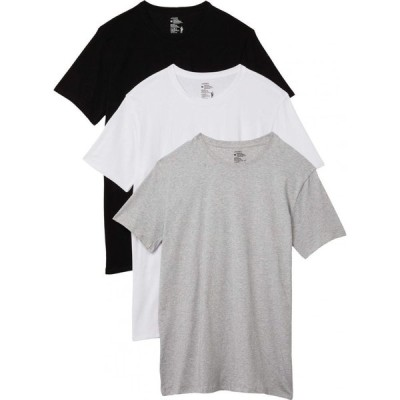 ジョッキー Jockey メンズ Tシャツ 3点セット トップス Cotton Stretch Crew Neck Tee 3-Pack White/Black/Grey Heather