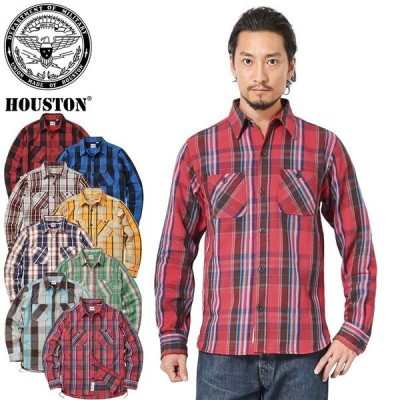 HOUSTON ヒューストン 40624 チェック ビエラ ヴィンテージ ワークシャツ メンズ フランネルシャツ ネルシャツ 無地 アメカジ おしゃれ 厚手 ブランド 新作