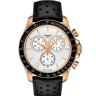 ティソ 腕時計 Tissot V8 クロノグラフ Silver Dial メンズ Rose Gold Tone Watch T1064173603100