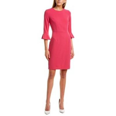 ドナモーガン レディース ワンピース トップス Donna Morgan 3/4-Sleeve Sheath Dress magenta