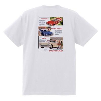 アドバタイジング ポンティアック 448 白 Tシャツ 黒地へ変更可能 1958 ボンネビル スターチーフ カタリナ ホットロッド ローライダー