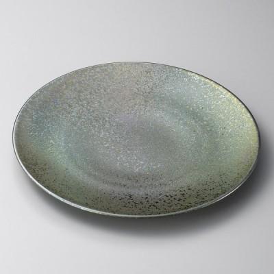 業務用食器 黒彩28cm丸皿 28.4×2.9cm 大皿