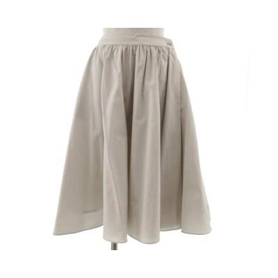 【中古】エフデ ef-de スカート ラップスカート調 ミディ丈 日本製 ベージュ 9 レディース 【ベクトル 古着】