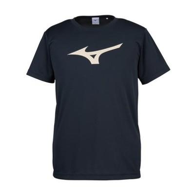 ミズノ(mizuno) Tシャツ 男女兼用 スポーツウェア ブラック×ゴールド 32JA815590