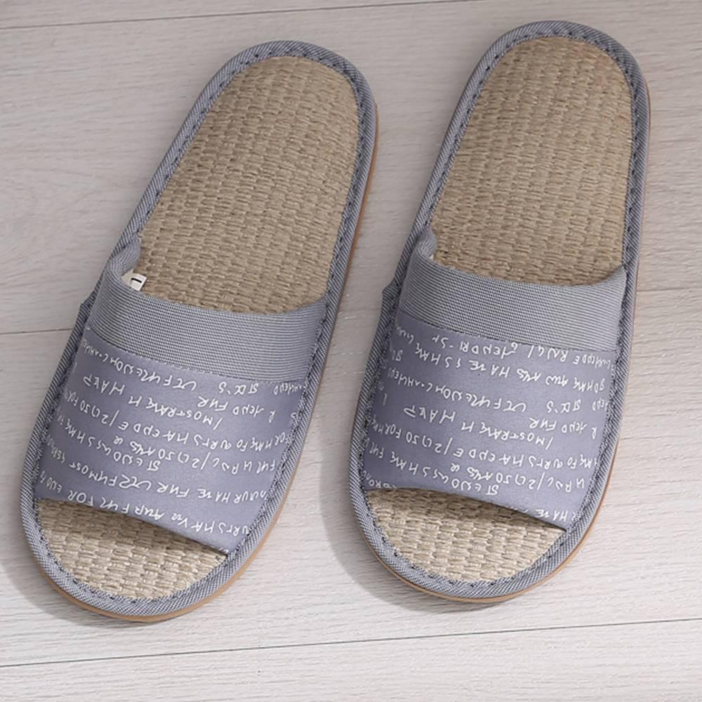 06009手繪字母室內蓆拖鞋-藍L