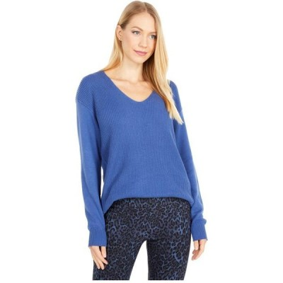エリオットローレン レディース ニット・セーター アウター Easy V-Neck Modal Sweater with Side Seam Detail