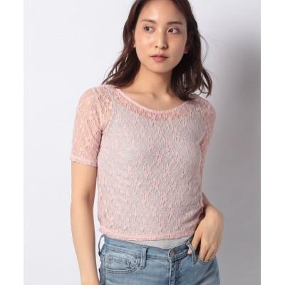 【ベイクルーズグループアウトレット】 back V blouse レディース ピンク フリー BAYCREW'S GROUP OUTLET
