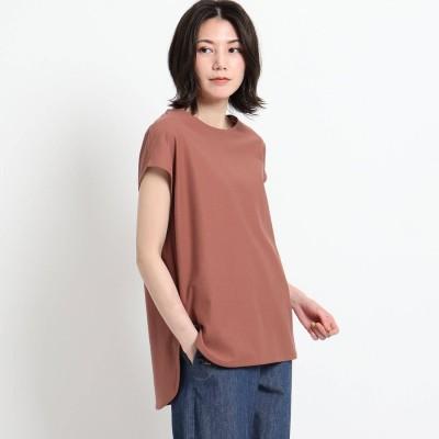 デッサン Dessin 【XS~L・手洗い可能】シャツテールTシャツ (ブラウン)