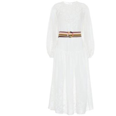 ジマーマン Zimmermann レディース ワンピース ミドル丈 ワンピース・ドレス zinnia applique midi dress Ivory