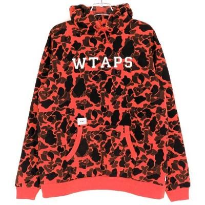 WTAPS ダブルタップス 18A/W DESIGN HOODED COLLEGE/SWEATSHIRT COTTON CAMO デザインフーデッドカレッジ