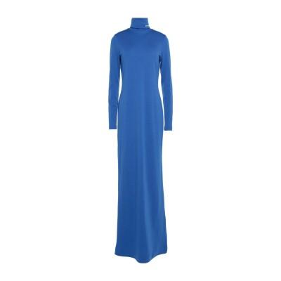 CALVIN KLEIN 205W39NYC ロングワンピース&ドレス ブライトブルー XS バージンウール 100% ロングワンピース&ドレス