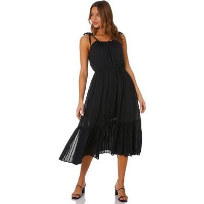 ミンクピンク Minkpink レディース パーティードレス ミドル丈 ワンピース・ドレス Leonie Drawstring Midi Dress Black