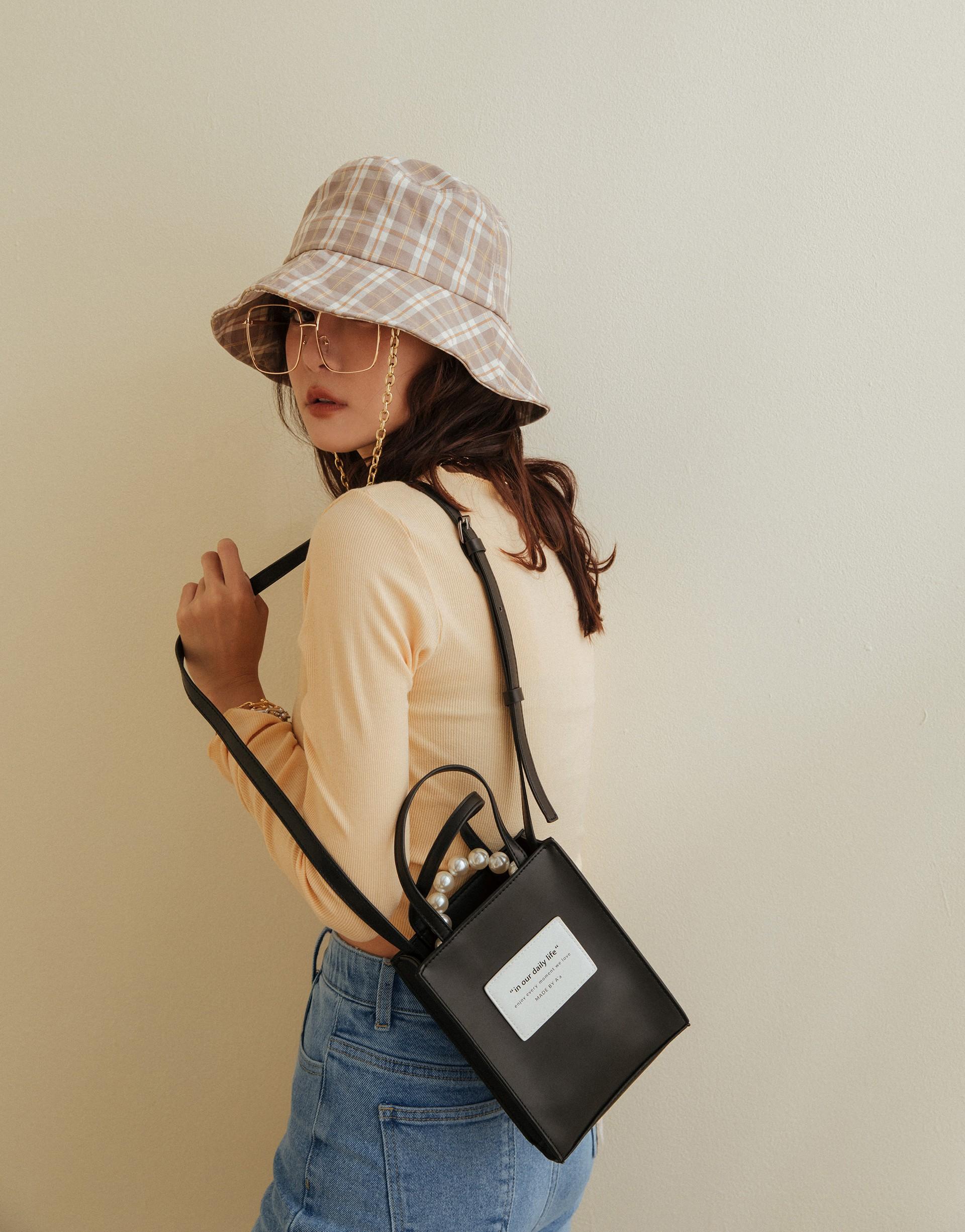 A'a 日常時髦珍珠皮革小包包-PAZZO
