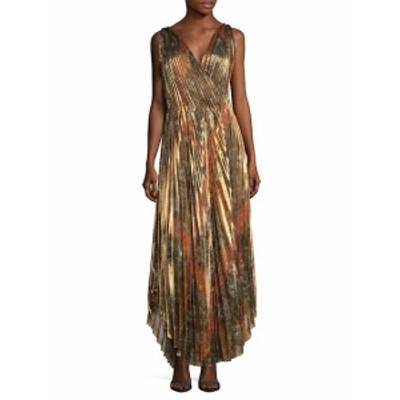 オスカーデラレンタ レディース ワンピース Pleated Silk Gown