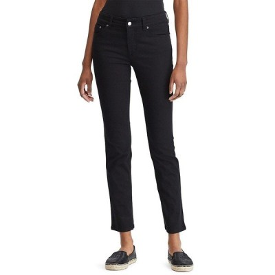 ラルフローレン レディース デニムパンツ ボトムス Lauren Jeans Co. Super-Stretch Slimming Premier Straight Jeans Black