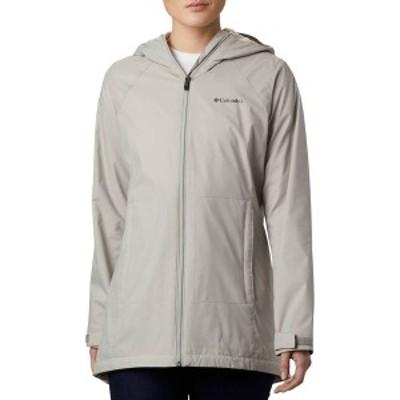 コロンビア レディース ジャケット・ブルゾン アウター Columbia Women's Switchback Lined Long Rain Jacket Flint Grey/Chalk Lining