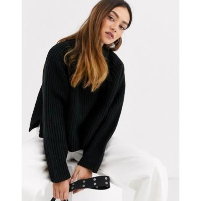 ウィークデイ レディース ニット・セーター アウター Weekday Cassandra sweater in black