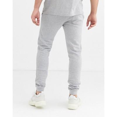 ファーラー メンズ カジュアルパンツ ボトムス Farah Shalden sweat sweatpants in light gray marl GRAY