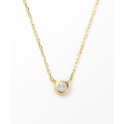 【ジュエッテ/Jouete】 K10YG ダイヤモンド バースデー ネックレス
