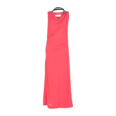 MARIA GRAZIA SEVERI ロングワンピース&ドレス コーラル 44 レーヨン 100% ロングワンピース&ドレス