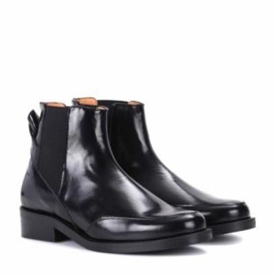 ガニー Ganni レディース ブーツ チェルシーブーツ シューズ・靴 Violet leather Chelsea boots Black