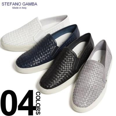 ステファノ ガンバ STEFANO GAMBA スリッポン スニーカー レザー イントレチャート ビブラムソール ブランド メンズ 靴 シューズ イタリア製 SGZX230S9