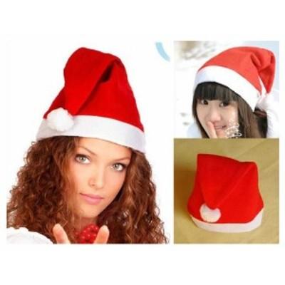 【300円 ぽっきり 送料無料】サンタ 帽子 サンタクロースグッズ サンタハット シンプル帽子 クリスマス a021
