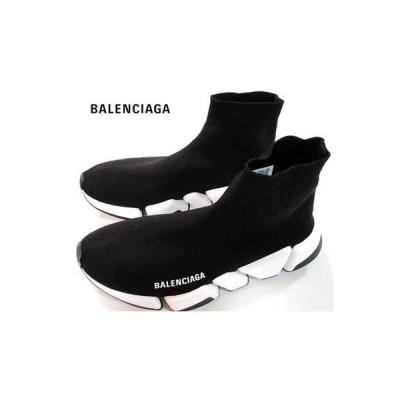 バレンシアガ BALENCIAGA レディース 靴 スニーカー ロゴ スピードトレーナー トゥ部分/ソール部分BALENCIAGAロゴ付きソックススニーカー (R104500) 02A
