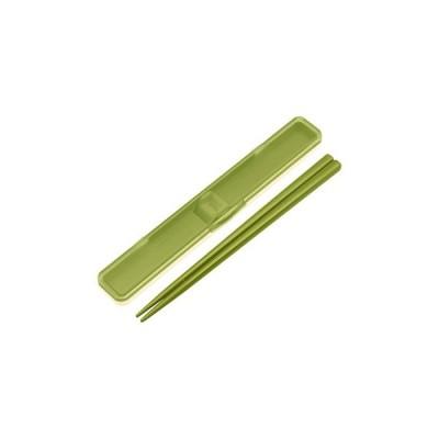 スケーター 音の鳴らない箸・箸箱セット レトロフレンチ グリーン ABC3 (1セット)