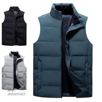 ダウンベスト メンズ 中綿ベスト 40代冬服 インナーベスト キルティング アウター ビジネス 人気 中綿ダウンベスト 防寒 通勤 スリム軽量ジャケット カッコイイ