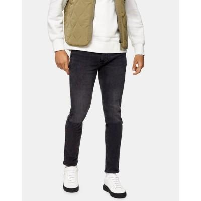 トップマン Topman メンズ ジーンズ・デニム スキニー ボトムス・パンツ skinny jeans in washed black グレー
