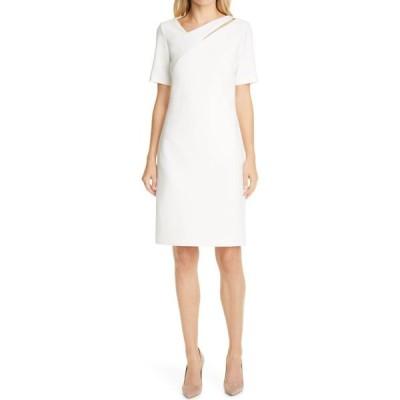 ヒューゴ ボス BOSS レディース ワンピース ワンピース・ドレス Dacut Sheath Dress Soft Cream