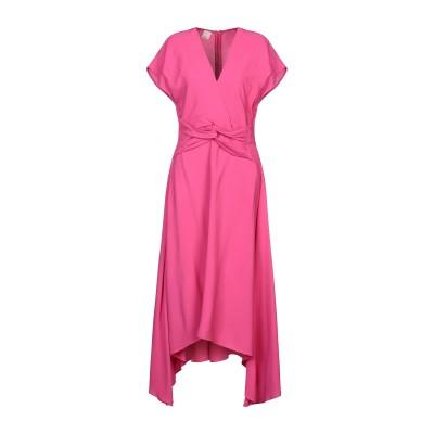ピンコ PINKO 7分丈ワンピース・ドレス フューシャ 42 レーヨン 100% 7分丈ワンピース・ドレス