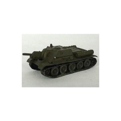 中古食玩 ミニカー 130.SU-122 突撃砲(単色迷彩/オリーブグリーン) 「ワールドタンクミュージアム シリーズ07」
