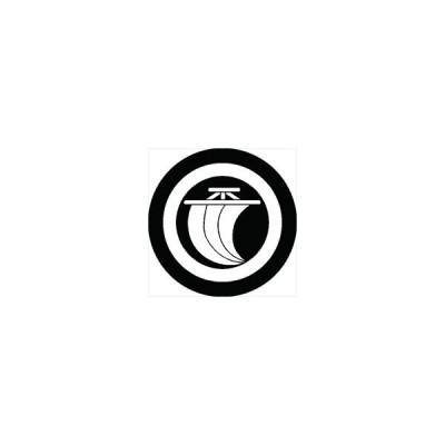 家紋シール 丸に一つ帆紋 直径4cm 丸型 白紋 4枚セット KS44M-0430W