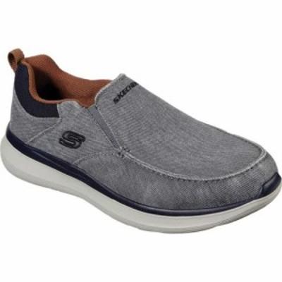 スケッチャーズ Skechers メンズ スリッポン・フラット シューズ・靴 Delson 2.0 Larwin Slip On Gray