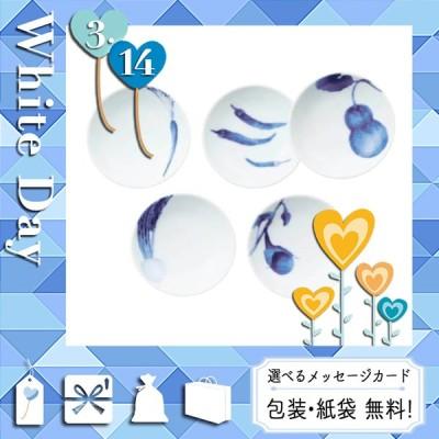父の日 プレゼント ギフト 花 食器セット 2021 カード 食器セット ノリタケ 京香旬彩 藍 プレート5枚セット(絵変わり)