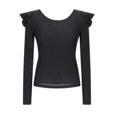 VICOLO T シャツ ブラック one size レーヨン 65% / ポリエステル 16% / ナイロン 14% / ポリウレタン 5% T