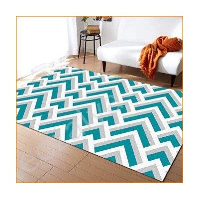 ARTSHOWING Geometric Non Woven Area Rug 2' x 3' Lightweight Modern Floor Mat with Non-Slip Backing Indoor Outdoor Decor Soft Carpet for Soft
