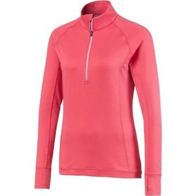 プーマ シャツ トップス レディース PUMA Women's Rotation -Zip Golf Pullover RaptureRose