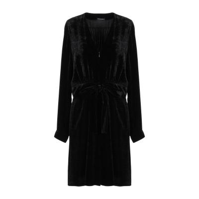 エンポリオ アルマーニ EMPORIO ARMANI ミニワンピース&ドレス ブラック 44 レーヨン 83% / シルク 17% ミニワンピース&