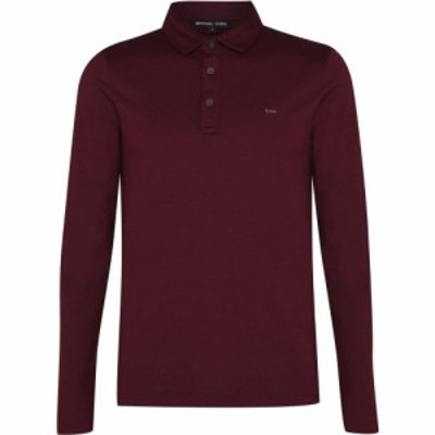 マイケル コース Michael Kors メンズ ポロシャツ トップス Long Sleeve Sleek Polo Shirt Cordovan