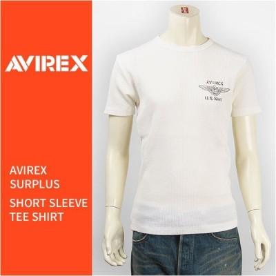 Avirex アビレックス 半袖 クルーネック ネイビー ワッフルTシャツ AVIREX S/S CREW NECK NAVY WAFFLE TEE 6163397-01